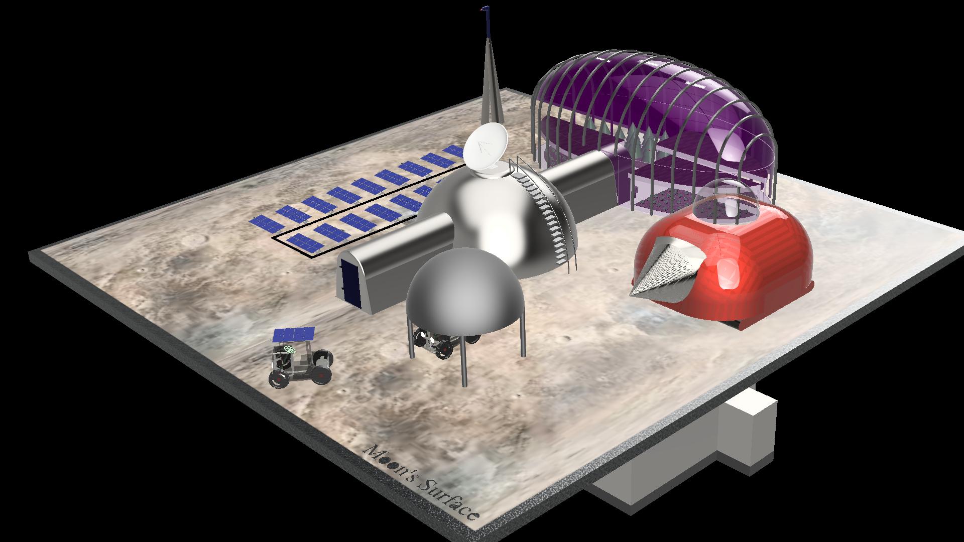 Lunar Base Design from Thessaloniki