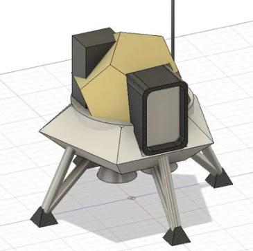 Lunar lander in Fusion 360