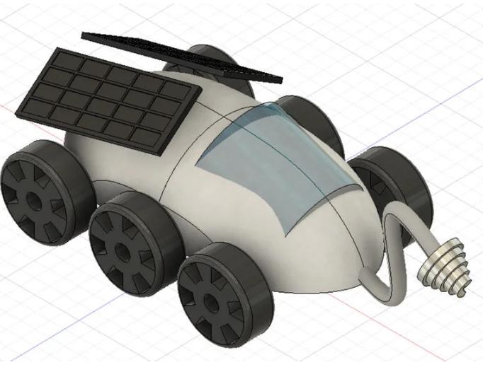 lunar rover in Fusion 360