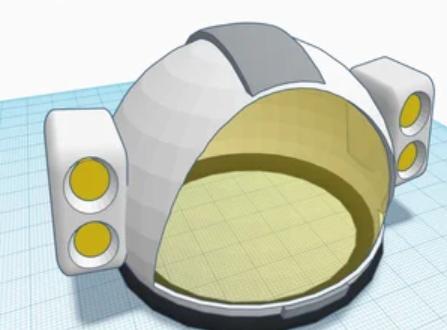 Design an astronauts helmet
